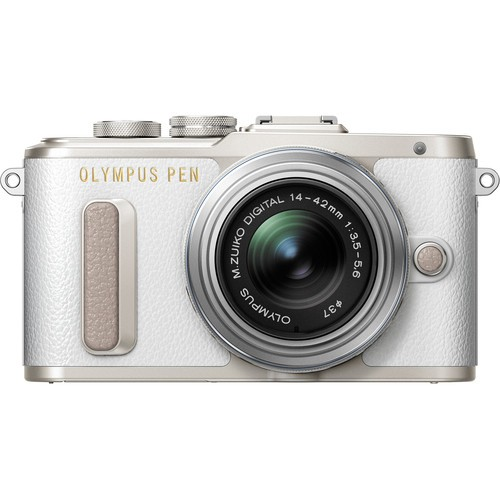 Olympus PEN E-PL8 Kit mit 14-42mm Objektiv - Frontansicht