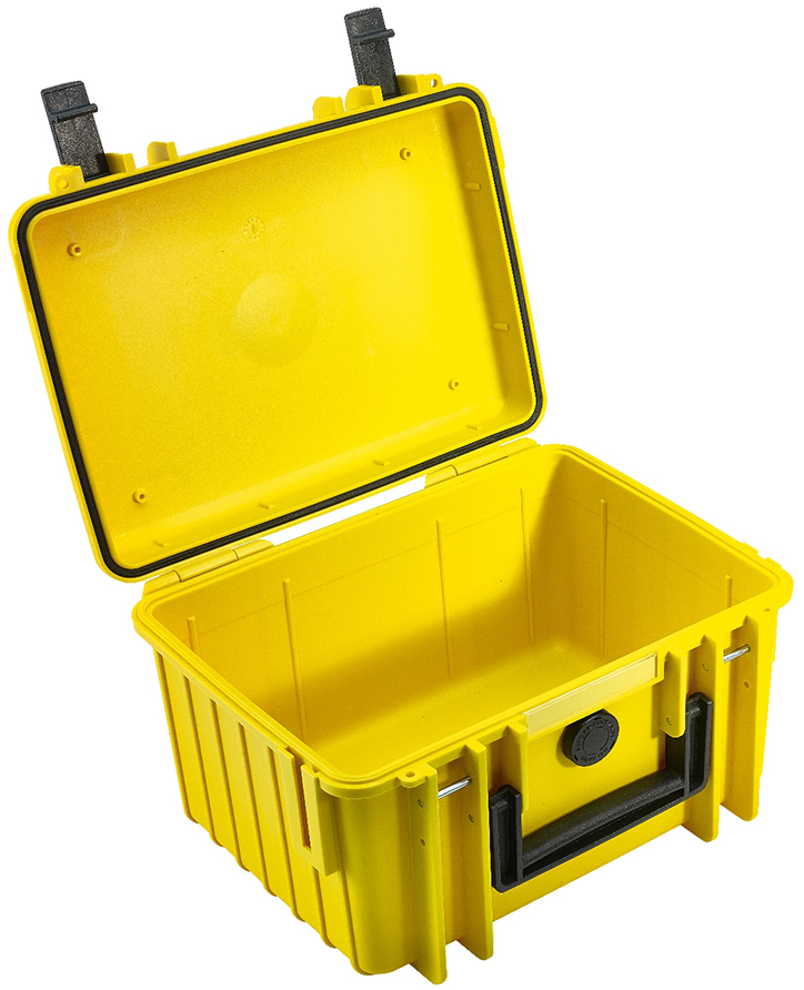 b w outdoor case typ 2000 koffer mit variablen f chern gelb k cher digitale welt. Black Bedroom Furniture Sets. Home Design Ideas