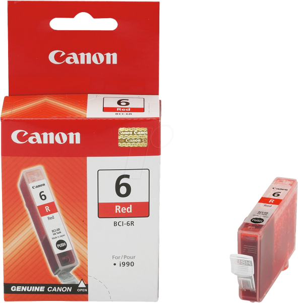 Canon BCI-6R Tintenpatrone rot