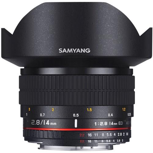 Samyang 14mm f/2.8 für Objektiv für Sony E - Frontansicht