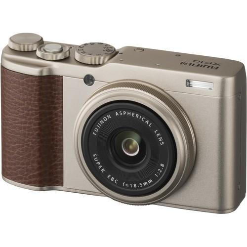 Fujifilm XF10 Premium Kompaktkamera gold - Schrägansicht