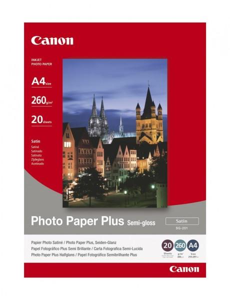 Canon SG-201 Fotopapier seidenglanz A4 20 Blatt (260g/qm)