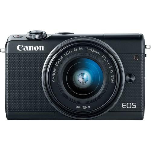 Canon EOS M100 Kit schwarz - Frontansicht