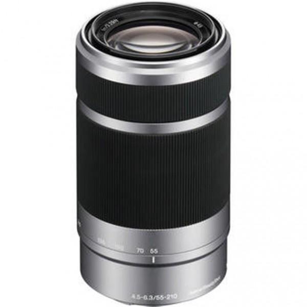 Sony E 55-210mm f/4.5-6.3 OSS Objektiv silber