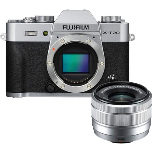 Fujifilm X-T20 Kit mit XC 15-45mm Objektiv silber