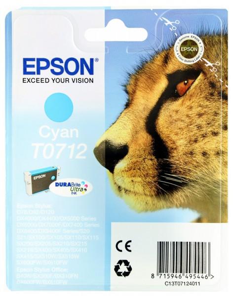 Epson T0712 Tintenpatrone cyan für D78