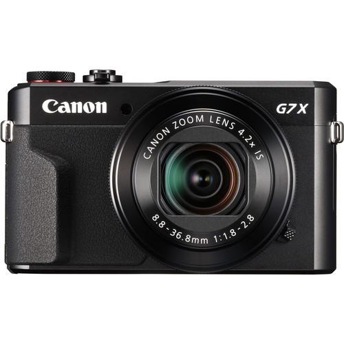 Canon PowerShot G7 X Mark II schwarz - Frontansicht
