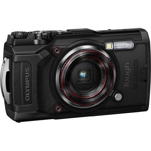 Olympus Tough TG-6 Outdoor Kamera - Schrägansicht