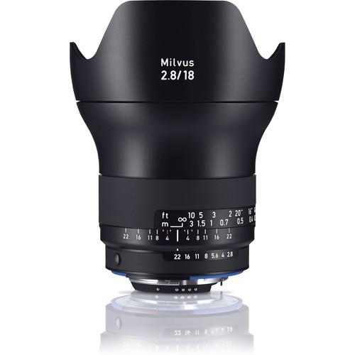 Zeiss Milvus 18mm F2.8 ZF.2 Nikon Objektiv - Frontansicht