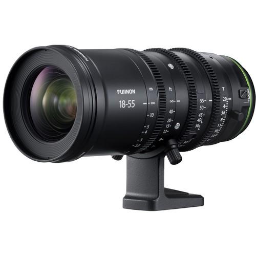Fujifilm MKX 18-55mm T2.9 Objektiv - Schrägansicht