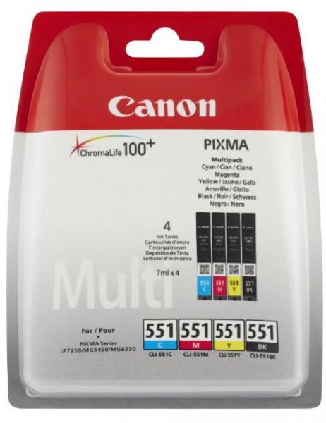 Canon CLI-551 Multipack Tintenpatrone schwarz/3-farbig