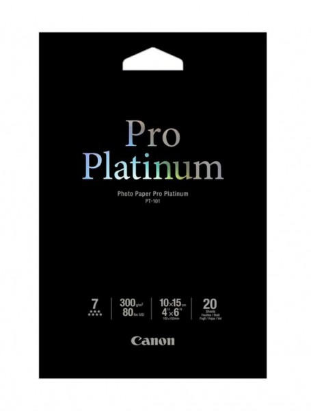 Canon PT-101 Platinum Fotopapier 10x15cm 20 Blatt (300g/qm)