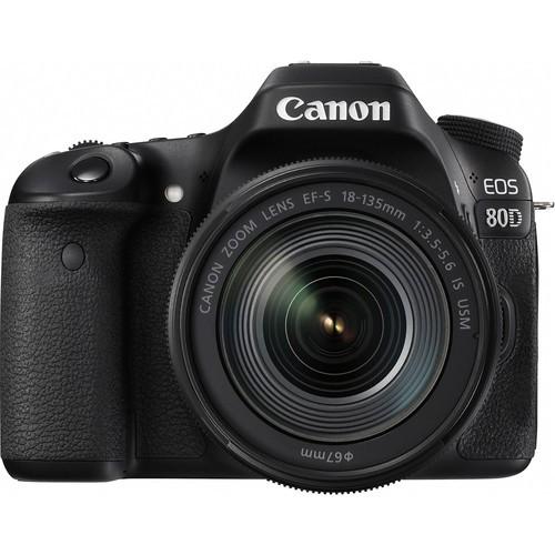 Canon EOS 80D Kit mit 18-135mm Objektiv - Frontansicht