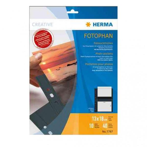 Herma 7787 Fotophan Fotosichthüllen quer 13x18 10 Hüllen