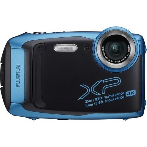 Fujifilm FinePix XP140 eisblau - Frontansicht