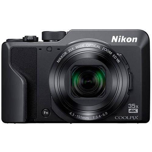 Nikon Coolpix A1000 schwarz inkl. Tasche - Frontansicht