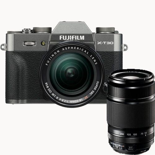 Fujifilm X-T30 Kit mit XF 18-55mm & XF 55-200mm Objektiv anthrazit