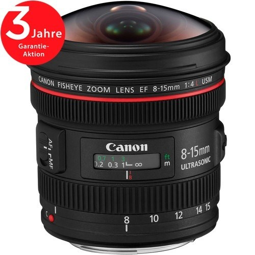 Canon EF 8-15mm F4.0 L Fisheye USM Objektiv - Frontansicht