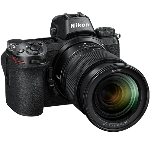 Nikon Z6 Kit mit Z 24-70mm f/4 S Objektiv - Schrägansicht