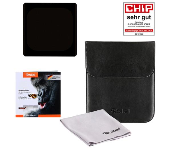 Rollei Rechteckfilter Mark II Graufilter 150mm ND32 (5 Stops) - Lieferumfang