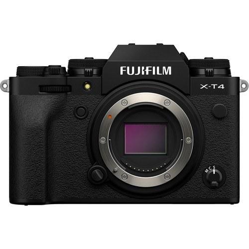 Fujifilm fp X-T4 Gehäuse schwarz - Vorderansicht