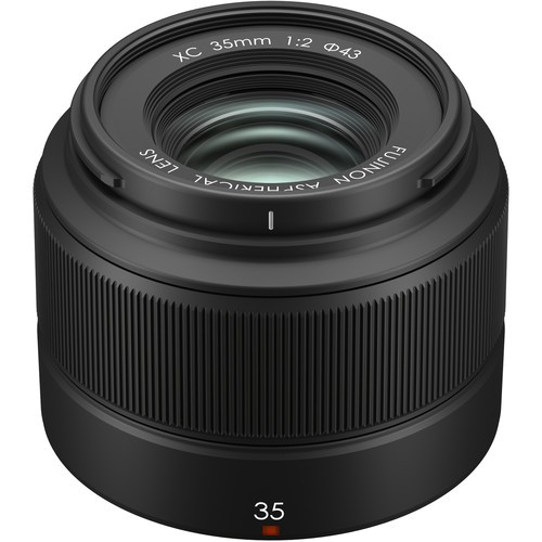 Fujifilm XC 35mm f/2 Objektiv - Topansicht