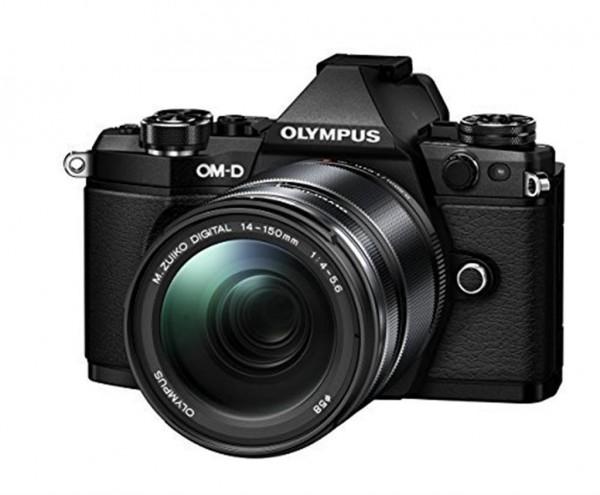 Olympus OM-D E-M5 Mark II Kit schwarz - Frontansicht