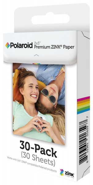 "Polaroid Zink 2x3"" Media Film Pack, 30 Fotos - Frontansicht"