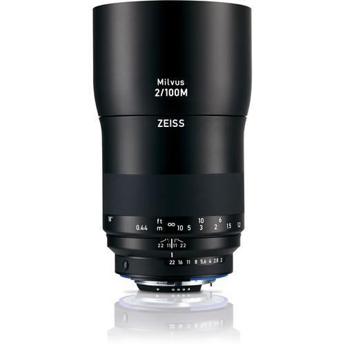 Zeiss Milvus 100mm F2 ZE für Nikon - Frontansicht