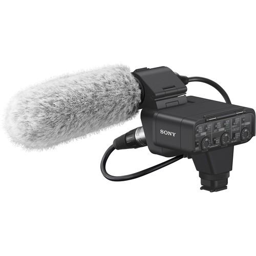 Sony XLR-K3M Adapter Kit mit Mikrofon - Schrägansicht