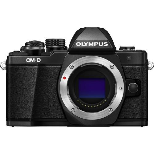 Olympus OM-D E-M10 Mark II Gehäuse schwarz - Frontansicht