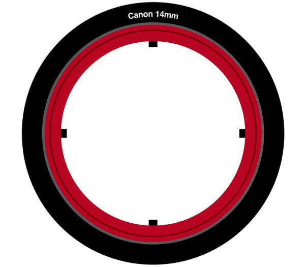 Lee Filters SW150 Adapter für Canon EF 14mm - Frontansicht