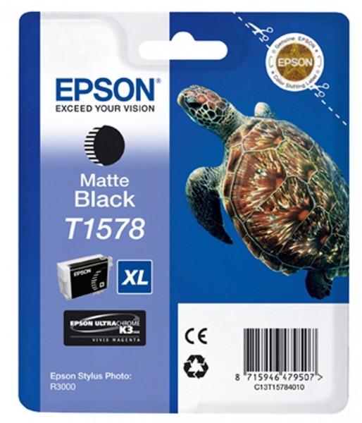 Epson T1578 Tintenpatrone matt schwarz für R3000