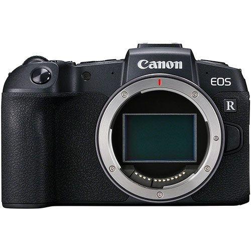 Canon EOS RP Gehäuse mit EF-EOS R Adapter - Frontansicht