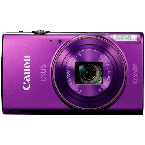 Canon IXUS 285 HS violett - Frontansicht