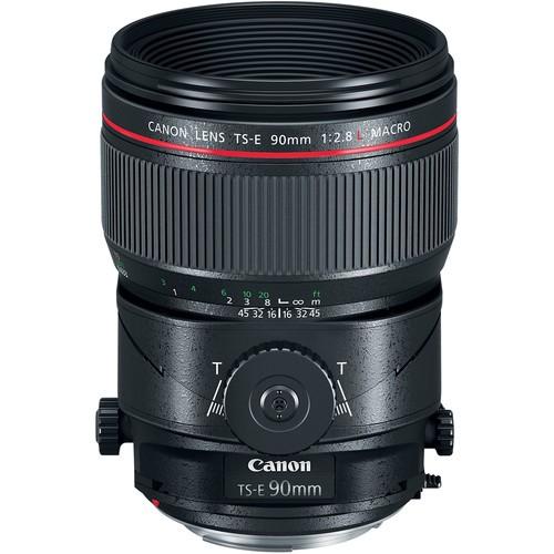 Canon TS-E 90mm f/2.8L Macro Tilt-Shift Objektiv - Frontansicht