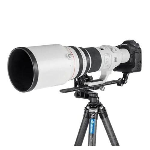 Leofoto Objektivstütze mit Kameraplatte und Arca-Profil 400mm