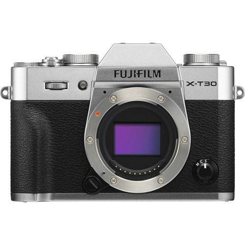 Fujifilm X-T30 Gehäuse silber - Frontansicht