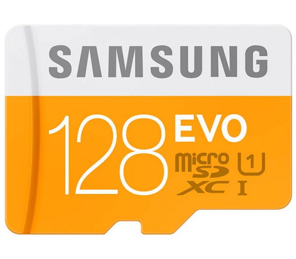 Samsung microSDHC 128GB EVO UHS-I Speicherkarte - Frontansicht