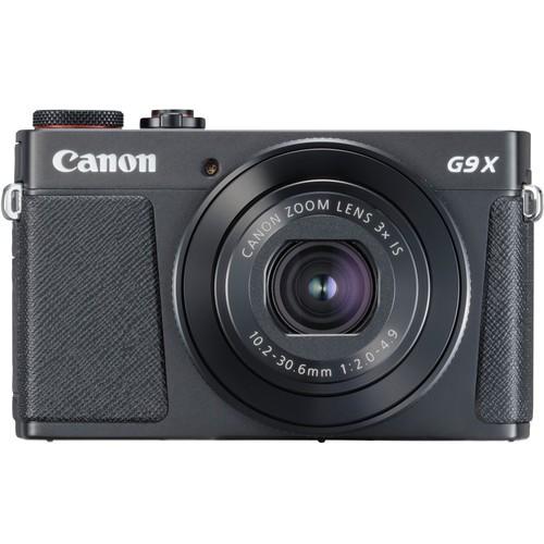 Canon PowerShot G9 X Mark II schwarz - Frontansicht