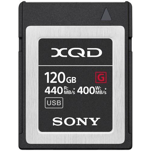 Sony XQD 120GB G-Serie Speicherkarte - Frontansicht