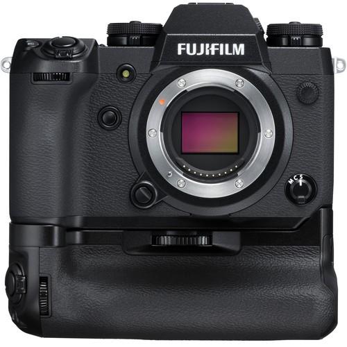 Fujifilm X-H1 Gehäuse mit VPB-XH1 Batteriegriff - Frontansicht