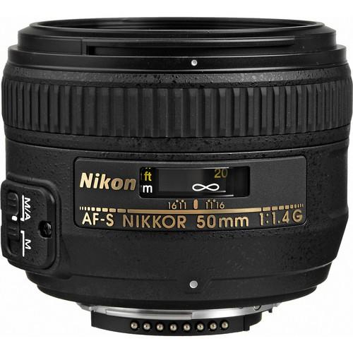 Nikon AF-S Nikkor 50mm F1.4 G - Frontansicht