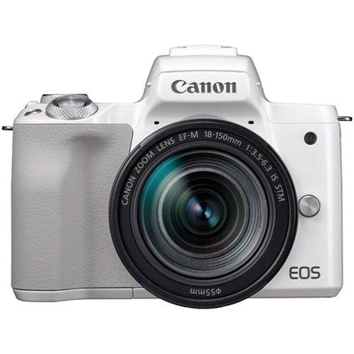 Canon EOS M50 Kit weiß - Frontansicht