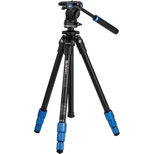 Benro SLIM Video Stativ Kit (Aluminium) - Frontansicht