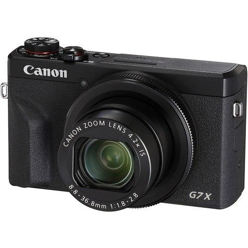 Canon PowerShot G7 X Mark III schwarz - Schrägansicht