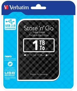 Verbatim 1TB USB 3.0 ´Store n´ Go´ externe Festplatte
