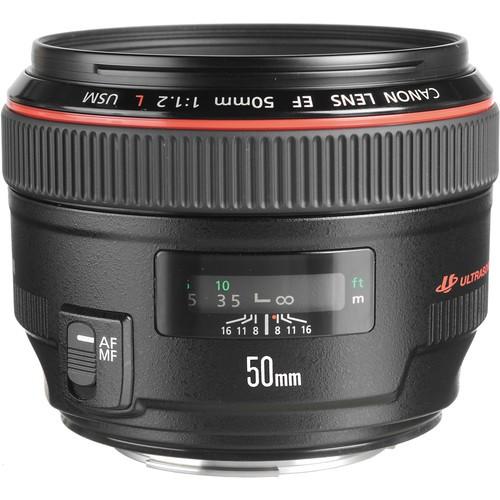 Canon EF 50mm f/1.2 L USM Objektiv - Frontansicht