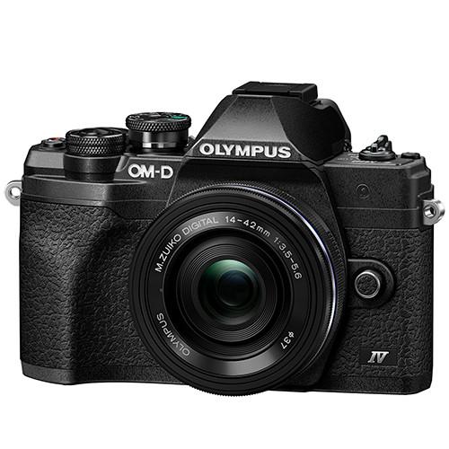 Olympus OM-D E-M10 Mark IV Kit mit 14-42mm EZ Objektiv schwarz