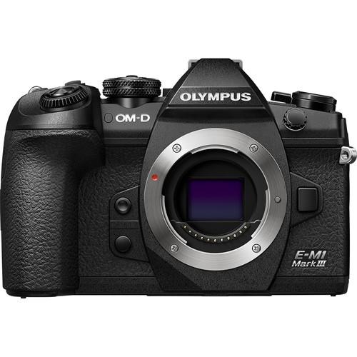 Olympus OM-D E-M1 Mark III Gehäuse - Frontansicht